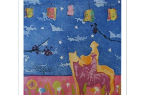 Partial_wide_exhibition_honolulu-printmakers_once-upon-a-cowboy_margo-ray