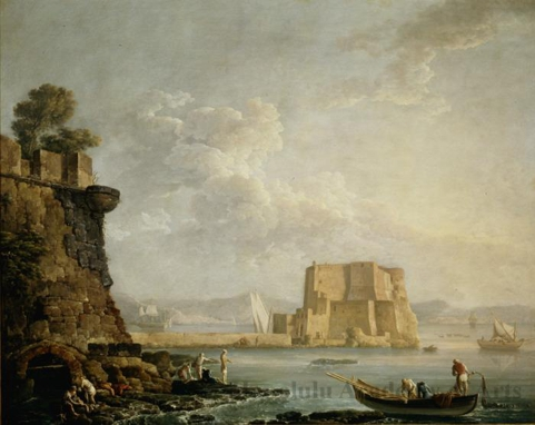 View of the Castel dell'Ovo, Naples