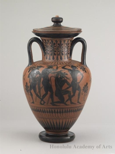 Amphora (Wine Container) with Lid