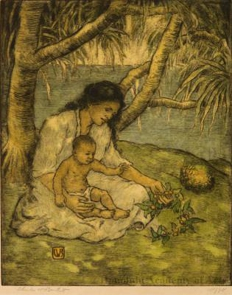 Hawaiian Mother and Child