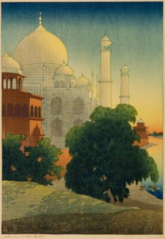 Taj-Mahal. Sunset.