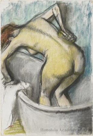 The Bath:  Woman Sponging Her Back