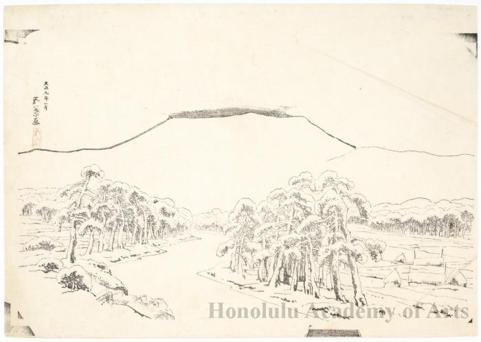 Honolulu Museum Of Art 187 Mount Ibuki In Snow From Tarui